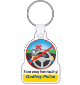 Steer Away From Texting Key Chain