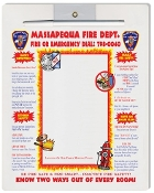 Dry Erase Board Magnet Fire Safety