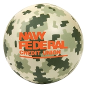 Digital Camouflage Round Stress Reliever
