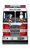 Fire Engine w/ Dalmation Photo Prop