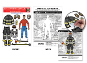 Fireman Dress-Up Peel and Place