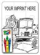 Coloring Puzzle Set - Fire Safety