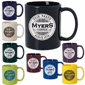 11oz Colored Coffee Mug